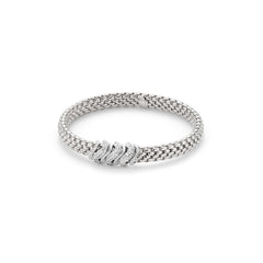 18ct White Gold & Diamond Flex'it Vendome Bracelet, 0.38ct