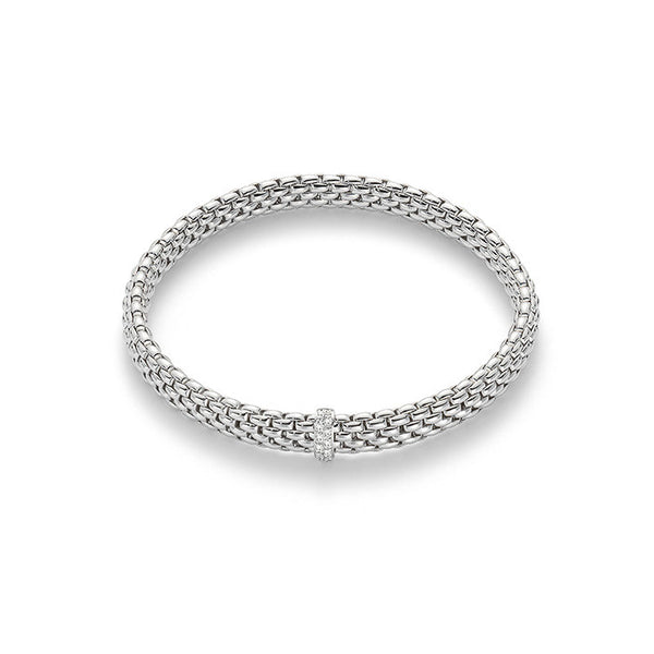 18ct White Gold & Diamond Flex'it Vendome Bracelet, 0.10ct