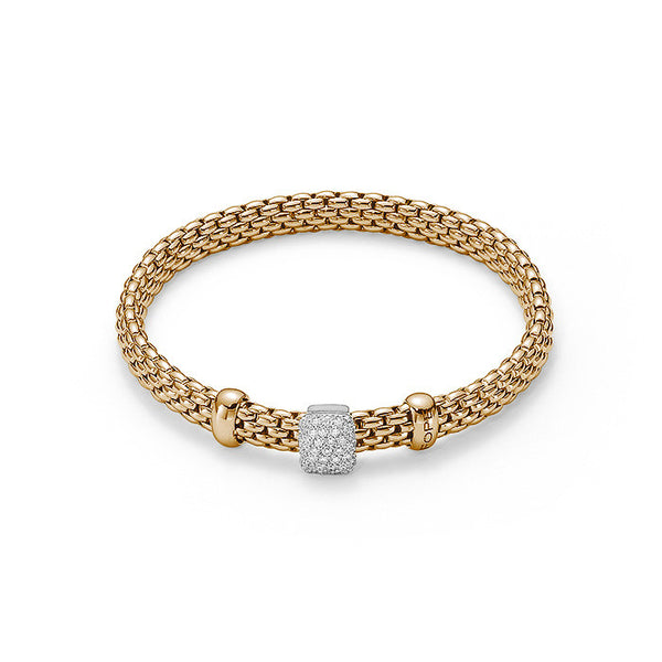 18ct Yellow Gold & Diamond Flex'it Vendome Bracelet, 0.41ct