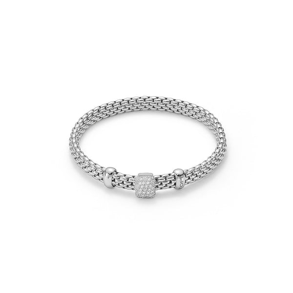 18ct White Gold & Diamond Flex'it Vendome Bracelet, 0.41ct