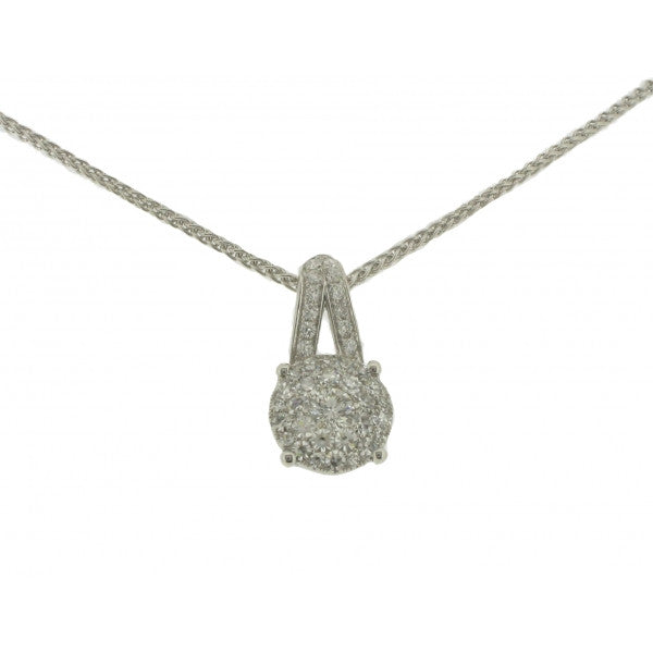 18ct White Gold Diamond Pendant, 0.46ct