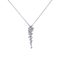 18ct White Gold & Diamond Waterfall Pendant, 0.50ct