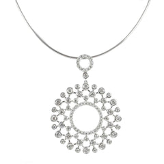 18ct White Gold Diamond Pendant, 2.56cts