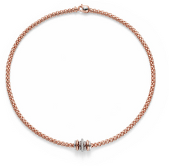 18ct Rose Gold Diamond Flex'it Solo Necklace, 0.41ct