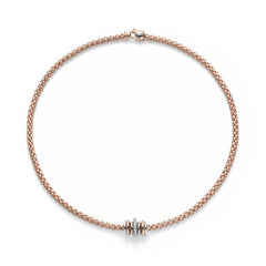 18ct Rose Gold & Diamond Flex'it Solo Necklace, 0.41ct