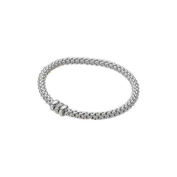 18ct White Gold & Diamond Flex'it Solo Bracelet, 0.10ct - from