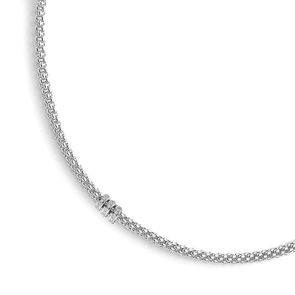 18ct White Gold & Diamond Flex'it Solo Necklace, 0.30ct