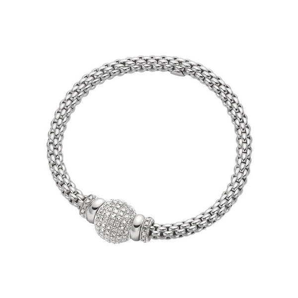 18ct White Gold & Diamond Flex'it Solo Bracelet, 1.64ct