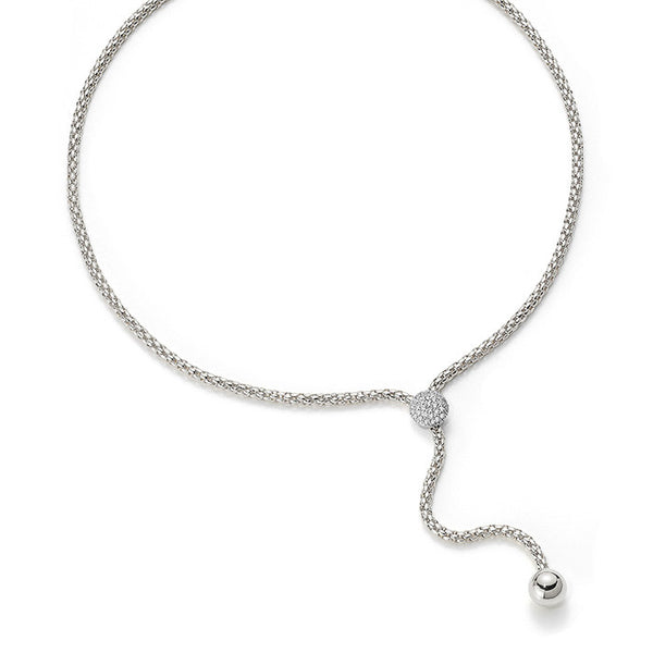 18ct White Gold & Diamond Flex'it Solo Lariat Necklace, 0.46ct