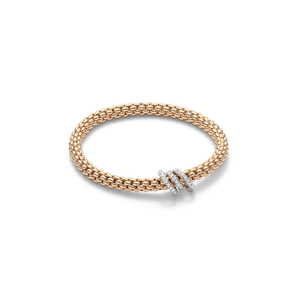 18ct Rose Gold & Diamond Flex'it Solo Bracelet, 0.26ct - from