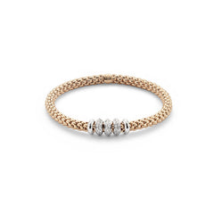 18ct Rose Gold & Diamond Flex'it Solo Bracelet, 0.50ct - from