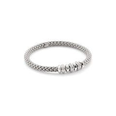 18ct White Gold & Diamond Flex'it Solo Bracelet, 0.50ct - from