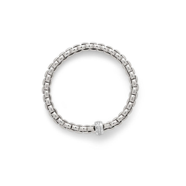 18ct White Gold & Diamond Flex'it Eka Bracelet, 0.18ct - from