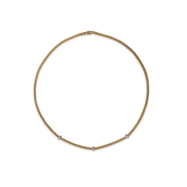 18ct Rose Gold Rigoletto Loop Necklace, 0.28ct