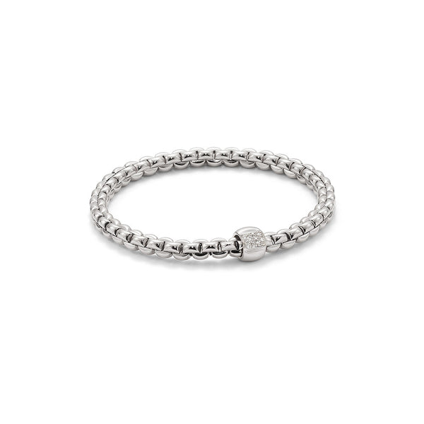 18ct White Gold & Diamond Flex'it Olly Bracelet, 0.24ct - from