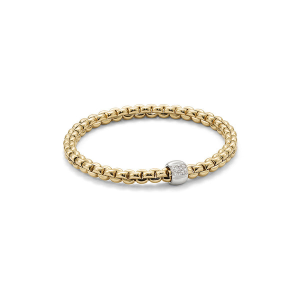 18ct Yellow Gold & Diamond Flex'it Olly Bracelet, 0.24ct
