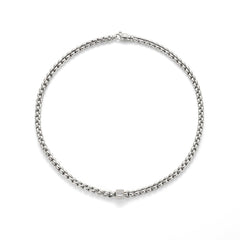 18ct White Gold & Diamond Flex'it Olly Necklace, 0.24ct