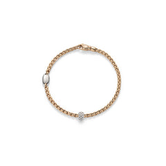 18ct Yellow Gold & Diamond Tiny Eka Bracelet, 0.19ct