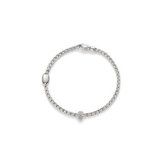18ct White Gold & Diamond Tiny Eka Bracelet, 0.19ct