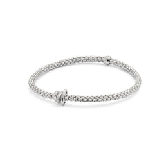 18ct White Gold Flex'it Prima Bracelet, 0.10ct - from