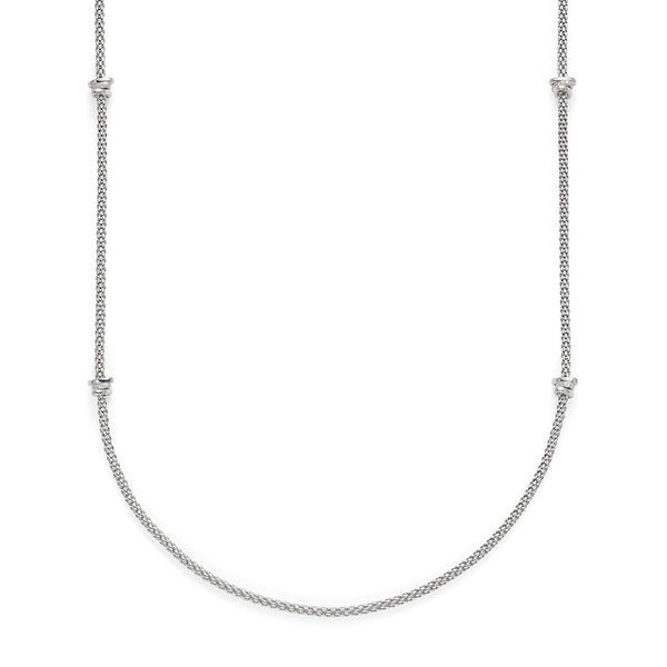 18ct White Gold Flex'it Prima 80cms Rope Necklace, 1.24cts