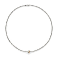 18ct White Gold Flex'it Prima Rope Necklace, 0.10ct