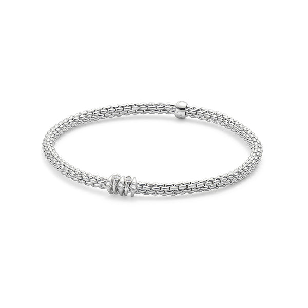 18ct White Gold Flex'it Prima Bracelet, 0.07ct - from