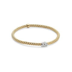 18ct Yellow Gold Flex'it Prima Bracelet, 0.07ct - from