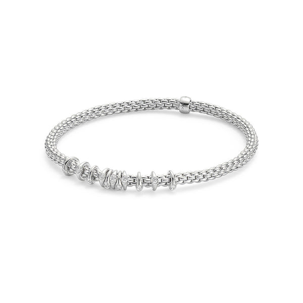 18ct White Gold Flex'it Prima Bracelet, 0.15ct - from