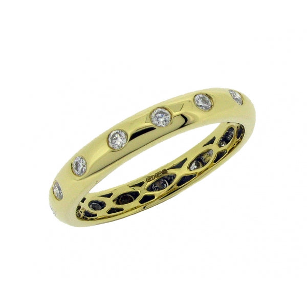18ct Gold Diamond Set Eternity Ring, 0.33ct