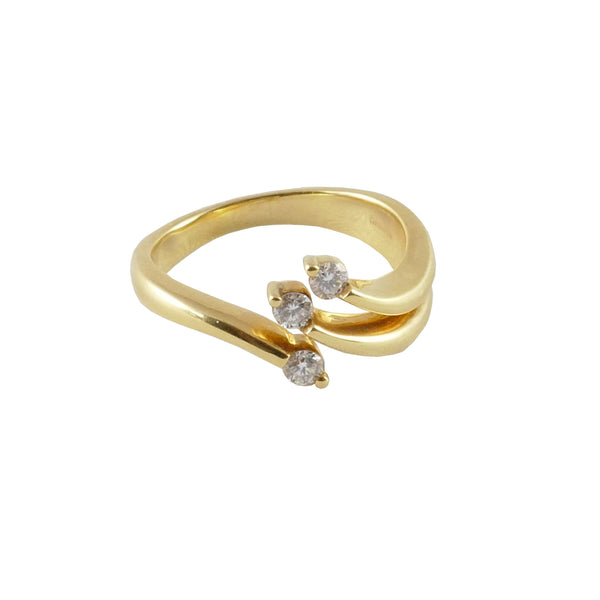 18ct Yellow Gold Diamond Ring, 0.21ct
