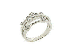 18ct White Gold Scatter Diamond Ring, 0.61ct