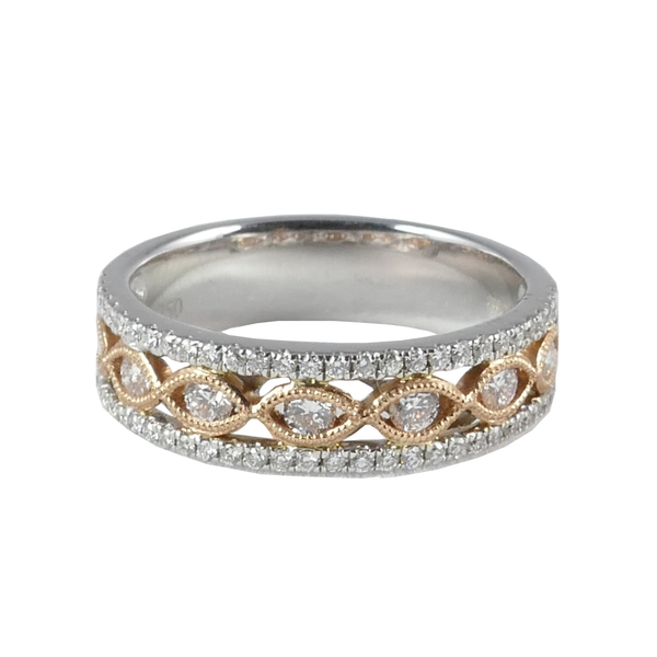 18ct White & Rose Gold Diamond Ring, 0.50ct