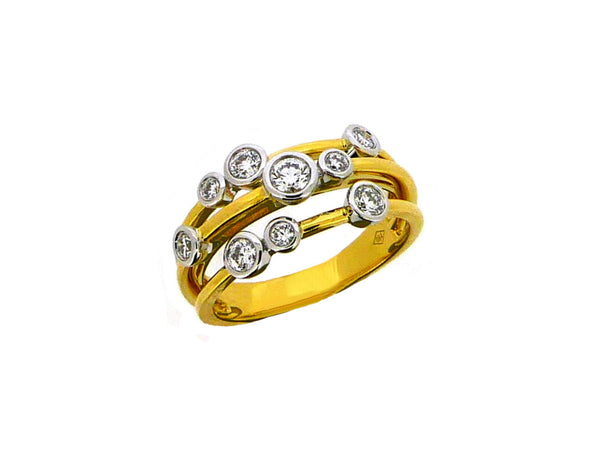 18ct Yellow Gold Scatter Ring, 0.52ct