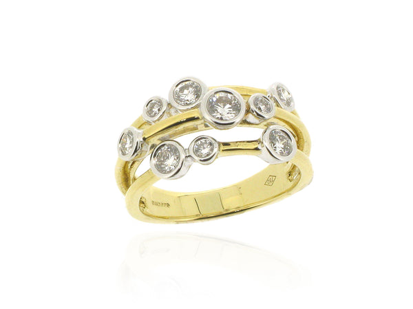 18ct Yellow Gold & Diamond Scatter Ring, 0.51ct