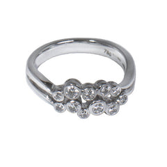 18ct White Gold & Diamond Scatter Ring, 0.37ct