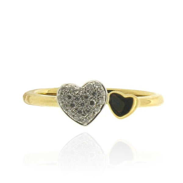 18ct Yellow Gold Heart Diamond Ring, 0.12ct