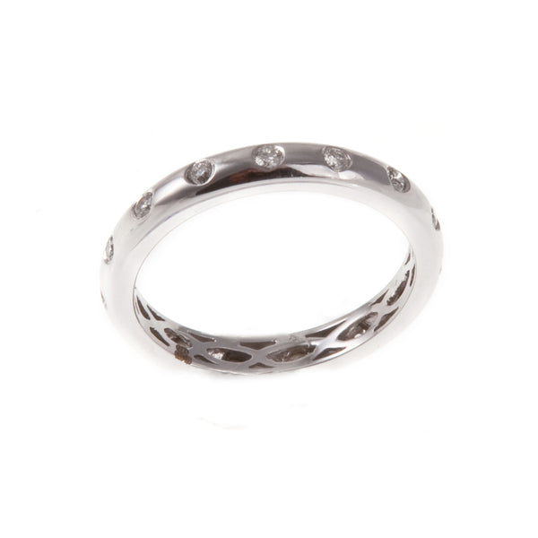 18ct White Gold Diamond Set Eternity Ring, 0.33ct