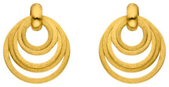14ct Yellow Gold Circle Drop Earrings