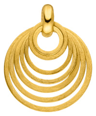 14ct Yellow Gold Circle Pendant