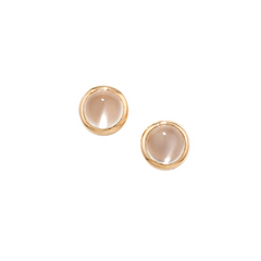 9ct Rose Gold Bubble Moonstone Stud Earrings