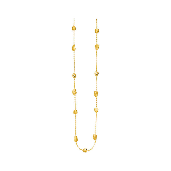 14ct Yellow Gold Nugget Necklace