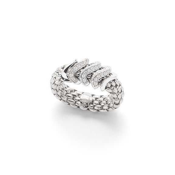 18ct White Gold Flex'it Vendome Ring, 0.38ct
