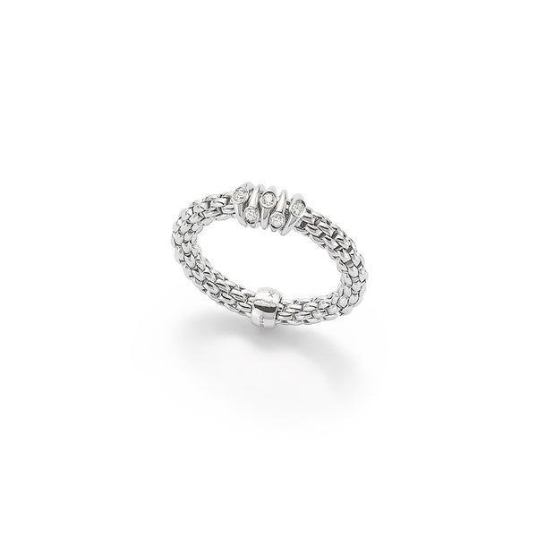 18ct White Gold Flex 'it Prima Ring, 0.07ct
