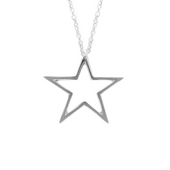 9ct White Gold Star Pendant