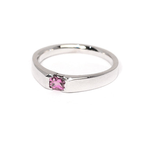 18ct White Gold Pink Tourmaline Ring