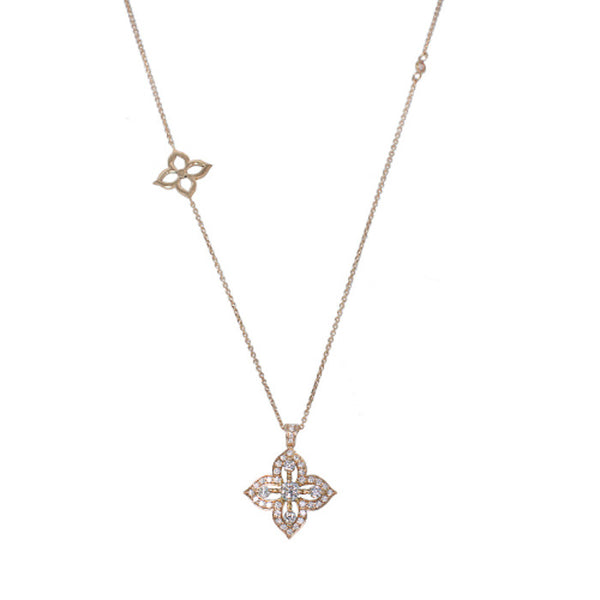 18ct Rose Gold & Diamond Pendant, 0.90ct