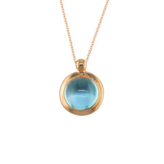 9ct Rose Gold Blue Topaz Bubble Pendant