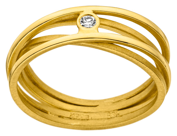 14ct Yellow Gold & Diamond Ring, 0.02ct