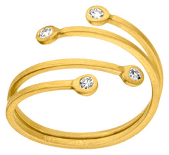 14ct Yellow Gold & Diamond Ring, 0.08ct